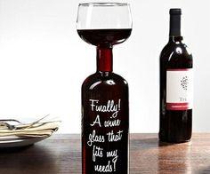 I wanna get this for your birthday @Kelly Teske Goldsworthy frazier Sartin! Wine Bottle Glass