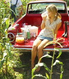 Ranchero cornfield tailgate picnic