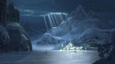 Winter can be so magical and majestic!  Stills from the Disney movie Frozen: Isfjord - The landscape of the Disney movie Frozen is inspired by Norwegian mountains and fjords.  Visi...