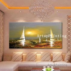 Find More Painting & Calligraphy Information about Hand painted canvas oil paintings abstract oil painting huge modern abstract oil painting boat ship sailing 11,High Quality painting sculpture,China painting with light portraits Suppliers, Cheap paintings made in china from ArtupPainting on Aliexpress.com