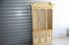 Vintage Faux Bamboo Chinese Chippendale Chinoiserie China Cabinet Credenza Palm Beach Hutch Drawers Buffet by feelinvintage on Etsy https://www.etsy.com/listing/167281124/vintage-faux-bamboo-chinese-chippendale