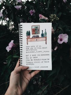 how easy it is for you to talk about destroying  buildings, plants, people.  but i hope you remember  all of them can be rebuilt from the tiniest pieces of their remains  poetry by Noor Unnahar // art journal ideas, watercolor illustration, notebook, journaling, words, quotes, poem, inspiration, tumblr white aesthetics hipsters craft diy, instagram photography artists, bookstagram floral //