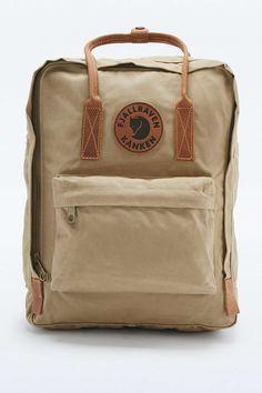 Fjallraven Kanken Sand and Leather Backpack