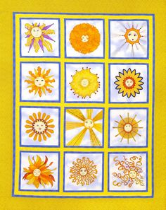 With Needle and Thread - Patterns , Ooo I LOVE this Sunshine Quilt a whole lot <3