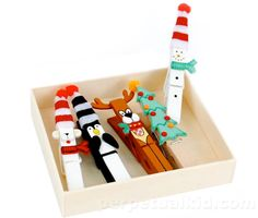 I've been trying to find Santa clothespins (of this variety) to no avail.