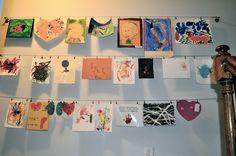Hanging children's art