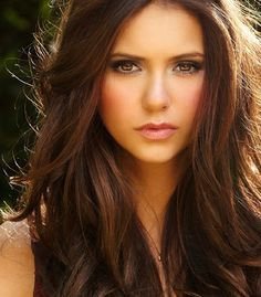 Nina Dobrev - love her hair and make up