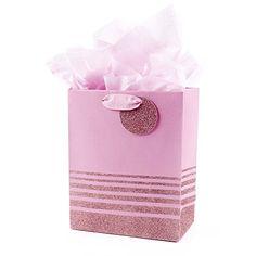 Hallmark Medium Gift Bag with Tissue (Pink Stripes) #Hallmark #Medium #Gift #with #Tissue #(Pink #Stripes)