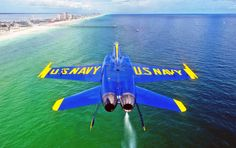 CoolPix: The Flipped Blue Angels 'Pensacola Beach' Desktop Pix . Blue Angels Planes, Blue Angels Air Show, Us Navy Blue Angels, Military Jets, Military Aircraft, Air Fighter, Fighter Jets, Kenny Loggins, Pensacola Beach