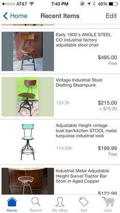 Obsessed with old drafting stools!