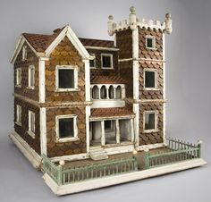 doll house antique vintage, different type of style. Lots of detail. .....Rick Maccione-Dollhouse Builder www.dollhousemansions.com