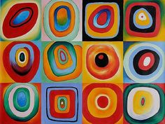 wassily kandinsky farbstudie quadrate painting