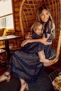The Vera Dress in Navy- Mommy Daughter Dresses, Mom And Baby Dresses, Mommy And Me Outfits, Black Lace Leggings, Date Night Dresses, Dress Picture, Child Models, Modest Dresses, Matching Outfits