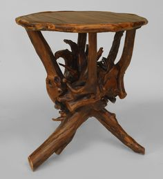 Rustic Adirondack table end table root