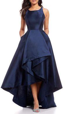 56131e77a9c Adrianna Papell Mikado Asymmetrical Hi-Low Gown
