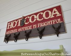 Make a Sign for a Hot Cocoa Bar
