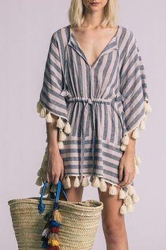 0da69e0c4c1 Shoptiques Product: Vero Kaftan - main Layering, Ivory, Tassels, Tie,  Bikinis