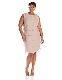 S.L. Fashions Women's Plus-Size Sequined Tiered Dress, Cashmere, 14 S.L. Fashions http://www.amazon.com/dp/B00W8CD4G0/ref=cm_sw_r_pi_dp_1O.Vwb0CBC9A9