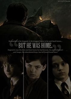 Harry, Tom and Severus. Young Tom is  best ;)