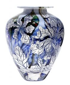 Iris Silver Graal | BUY-Graal-one-off-pieces-available-to-purchase-now | J H Studio Glass