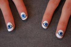 evil eye nails. super cute!