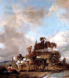 Wouwerman, Philips - Peasants in the Field A Hay Harvest Art Print #philipswouwerman #wallart #famouspainting