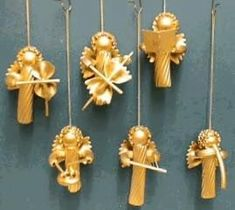 Nudelengel - My list of best Diy and Crafts Christmas Crafts To Make, Diy Christmas Ornaments, Christmas Angels, Simple Christmas, Holiday Crafts, Christmas Decorations, Christmas Pasta, Christmas Ideas, Macaroni Crafts