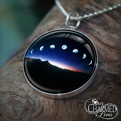 Genuine Sterling Silver Moon Phase Pendant / by OurCharmedLives, $29.95