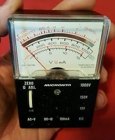 Vintage-Micronta-No-22-027B-Analog-Multitester-Multimeter-Radio-Shack-Tandy