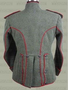 Replica of German WWI Imperial Uhlan Tunic (Red Piping) for Sale