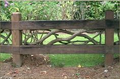branch and board fence