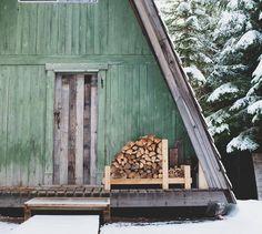 A-Frame Wood Pile