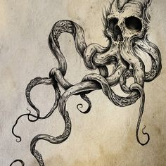 Get some great ideas for an octopus tattoo with our collection of awesome designs. These are the coolest octopus tattoos you've never seen! Bild Tattoos, Neue Tattoos, Body Art Tattoos, Scary Tattoos, Tattoos Pics, Tattoo Images, Tatoo Henna, Tatoo Art, Live Tattoo