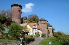 Rapunzel's Castle – Castle of Trendelburg, district of Kassel, Hesse.