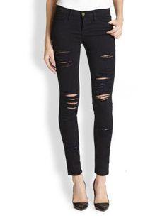 Frame Denim Le Color Rip Skinny Jeans $199.00 - Buy it here: http://lmz.co/BWD8LR