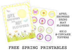 {FREE PRINTABLE} april showers bring may flowers printable - Creative Juice