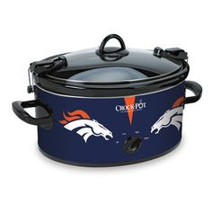 Denver Broncos NFL Crock-Pot® Cook . My green chile is going in this when the Broncos go to the SuperBowl!