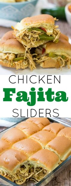 Easy cheesy, tasty and spicy Chicken Fajita Sliders are a great weeknight meal!