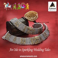 Redefine Your Look. By Aman Ornaments Visit us at -- For any further queries feel free to contact us. Silver Anklets Designs, Anklet Designs, Necklace Designs, Bridal Jewellery Inspiration, Gold Jewellery Design, Gold Jewelry Simple, Stylish Jewelry, Peacock Jewelry, Ankle Jewelry