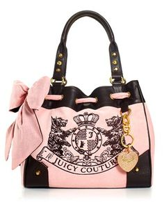 Pink & Black Juicy Couture bag