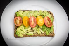 Hovkonditorn: Mashed Avocado and Tomatoes on Rye Bread