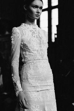 Elegance - embroidered dress; b&w photography // Inbal Dror Fall 2015
