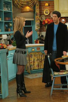 This schoolgirl/boots outfit that you just know is giving Ross life.
