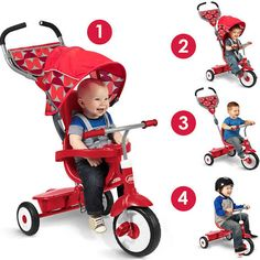 Radio Flyer Deluxe 4-in-1 Trike, Red