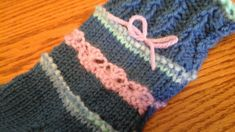 Daisy Chain sock close up