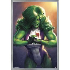 Totally Awesome Hulk No. 4 Cover Featuring She-Hulk Marvel Comics Poster - 30 x 46 cm Marvel Dc Comics, Hulk Marvel, Hulk 4, Bd Comics, Comics Girls, Marvel Art, Marvel Heroes, Rogue Comics, Poster Marvel