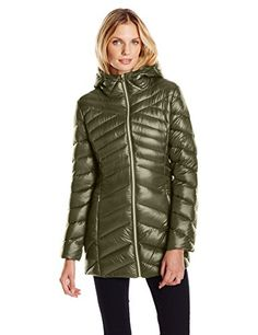 Jessica Simpson Women's Chevron Packable Down Jacket *** Check this awesome item by going to the link at the image.