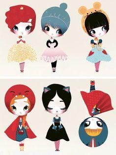 Chocovenyl, Adolie Day Dress Up Dolls Wall Stickers
