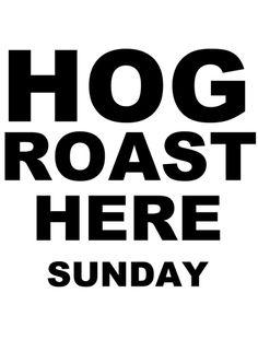 HOG ROAST Roast, Typography, Black, Letterpress, Letterpress Printing, Black People, Roasts, Fonts, Printing