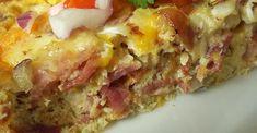 Super Easy Egg Casserole Egg Recipes, Brunch Recipes, Low Carb Recipes, Breakfast Recipes, Cooking Recipes, Diet Recipes, Cake Recipes, Breakfast Bake